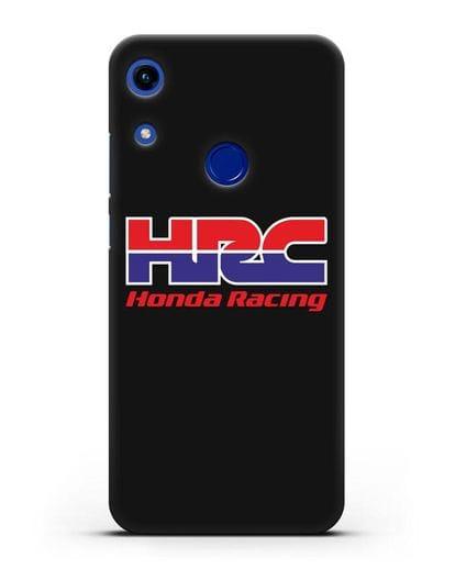 Чехол с надписью Honda Racing силикон черный для Honor 8A