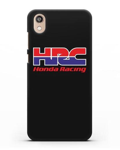 Чехол с надписью Honda Racing силикон черный для Honor 8S
