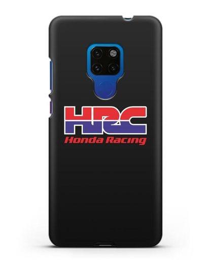 Чехол с надписью Honda Racing силикон черный для Huawei Mate 20