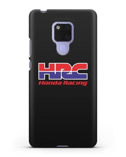 Чехол с надписью Honda Racing силикон черный для Huawei Mate 20X