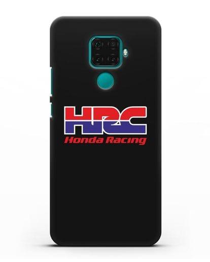 Чехол с надписью Honda Racing силикон черный для Huawei Mate 30 Lite