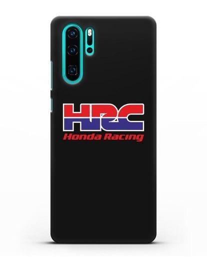 Чехол с надписью Honda Racing силикон черный для Huawei P30 Pro