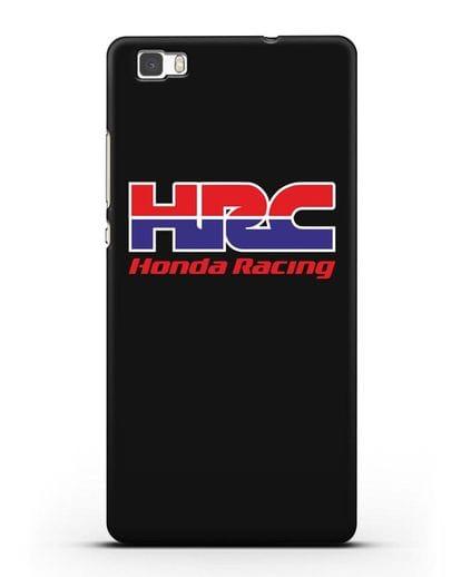 Чехол с надписью Honda Racing силикон черный для Huawei P8 Lite