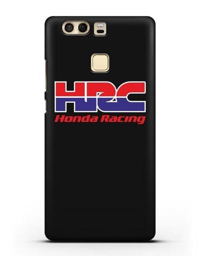 Чехол с надписью Honda Racing силикон черный для Huawei P9