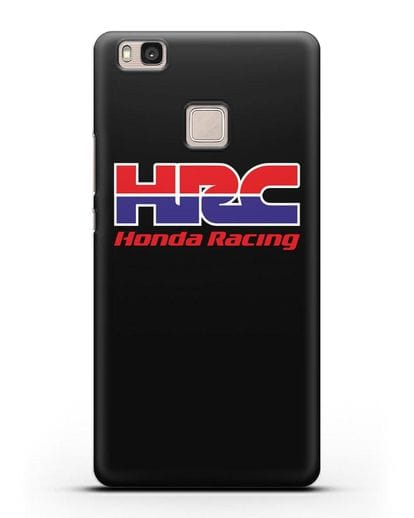 Чехол с надписью Honda Racing силикон черный для Huawei P9 Lite