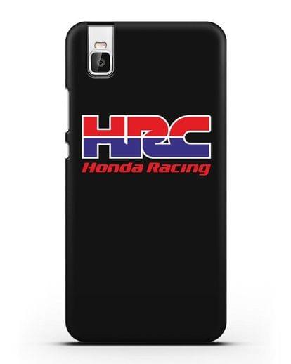 Чехол с надписью Honda Racing силикон черный для Huawei Shot X