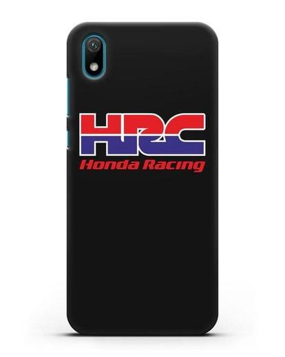 Чехол с надписью Honda Racing силикон черный для Huawei Y5 2019