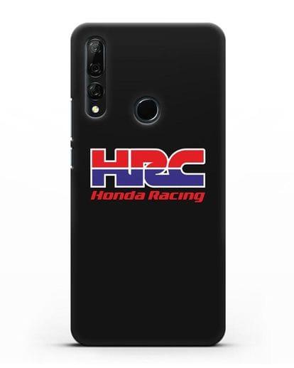 Чехол с надписью Honda Racing силикон черный для Huawei Y9 Prime 2019