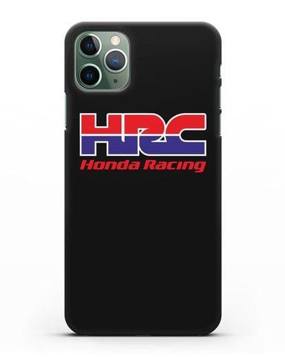 Чехол с надписью Honda Racing силикон черный для iPhone 11 Pro