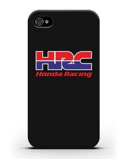 Чехол с надписью Honda Racing силикон черный для iPhone 4/4s