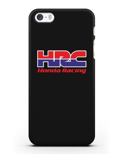 Чехол с надписью Honda Racing силикон черный для iPhone 5/5s/SE