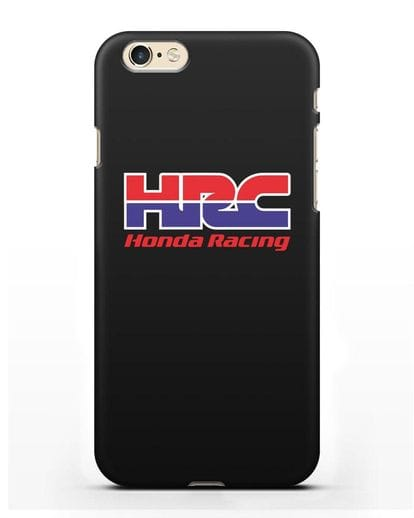Чехол с надписью Honda Racing силикон черный для iPhone 6