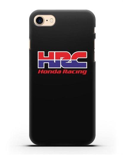 Чехол с надписью Honda Racing силикон черный для iPhone SE 2020