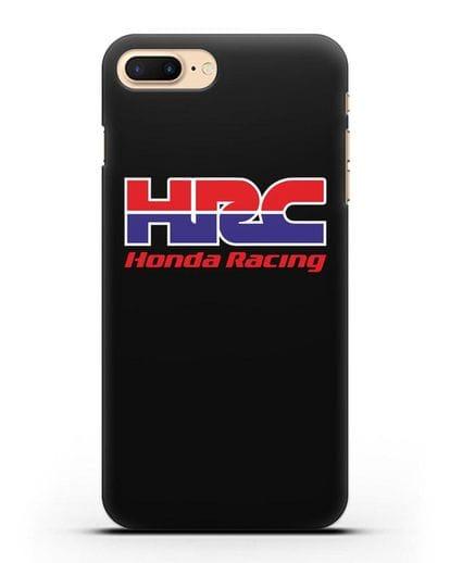 Чехол с надписью Honda Racing силикон черный для iPhone 8 Plus