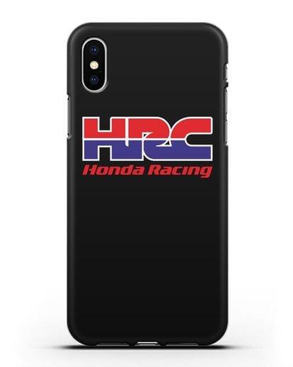 Чехол с надписью Honda Racing силикон черный для iPhone XS