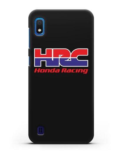 Чехол с надписью Honda Racing силикон черный для Samsung Galaxy A10 [SM-A105F]
