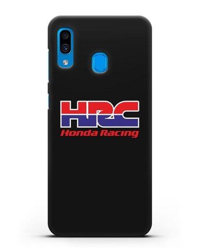 Чехол с надписью Honda Racing силикон черный для Samsung Galaxy A30 [SM-A305FN]