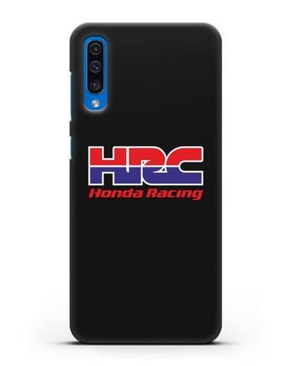Чехол с надписью Honda Racing силикон черный для Samsung Galaxy A50 [SM-A505F]