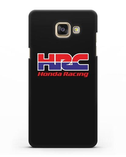 Чехол с надписью Honda Racing силикон черный для Samsung Galaxy A7 2016 [SM-A710F]