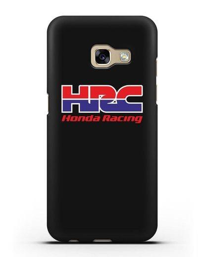 Чехол с надписью Honda Racing силикон черный для Samsung Galaxy A7 2017 [SM-A720F]