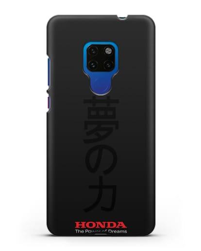 Чехол с надписью Honda и иероглифами силикон черный для Huawei Mate 20