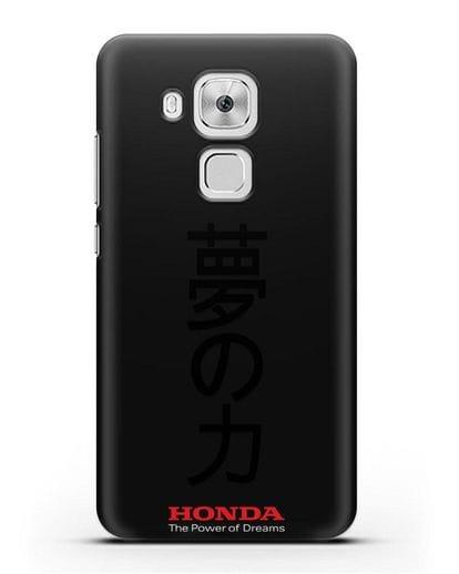 Чехол с надписью Honda и иероглифами силикон черный для Huawei Nova Plus