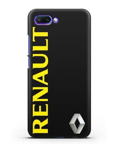 Чехол с надписью Renault и логотипом силикон черный для Honor 10