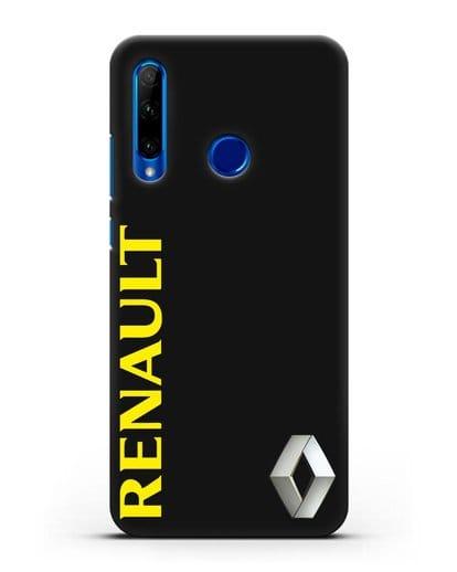 Чехол с надписью Renault и логотипом силикон черный для Honor 10i