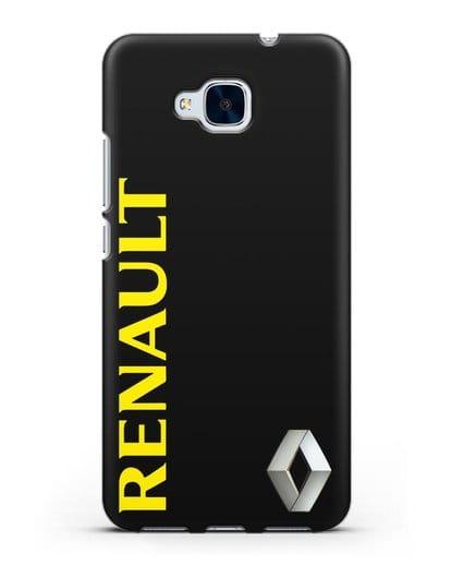 Чехол с надписью Renault и логотипом силикон черный для Honor 5C