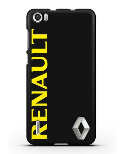 Чехол с надписью Renault и логотипом силикон черный для Honor 6