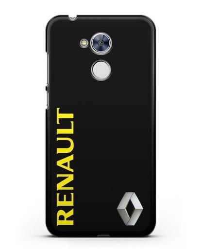 Чехол с надписью Renault и логотипом силикон черный для Honor 6A
