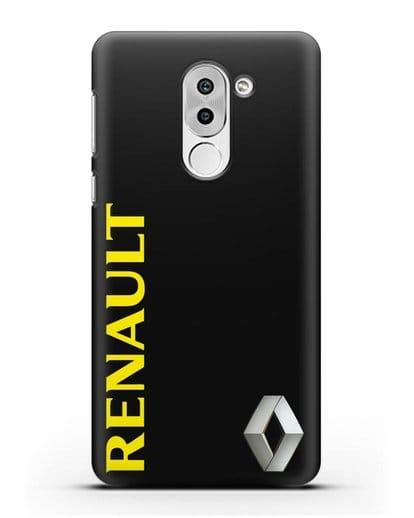Чехол с надписью Renault и логотипом силикон черный для Honor 6X