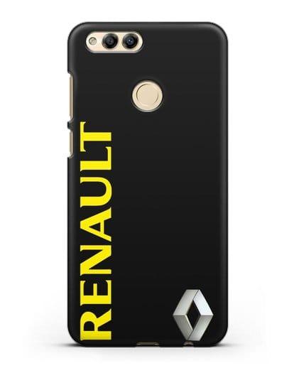 Чехол с надписью Renault и логотипом силикон черный для Honor 7X