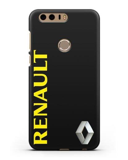 Чехол с надписью Renault и логотипом силикон черный для Honor 8