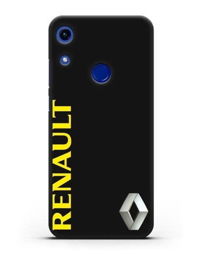 Чехол с надписью Renault и логотипом силикон черный для Honor 8A