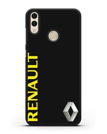 Чехол с надписью Renault и логотипом силикон черный для Honor 8C