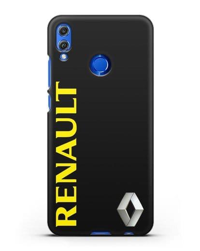Чехол с надписью Renault и логотипом силикон черный для Honor 8X