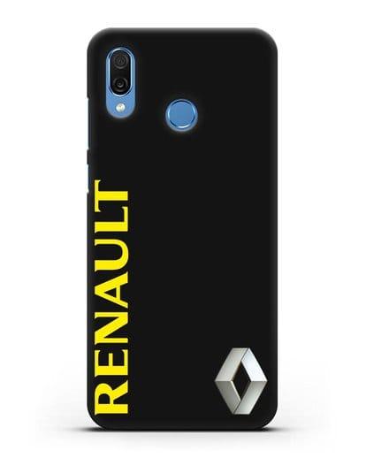 Чехол с надписью Renault и логотипом силикон черный для Honor Play
