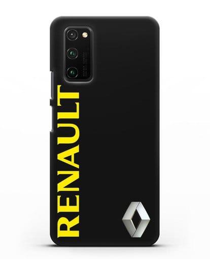 Чехол с надписью Renault и логотипом силикон черный для Honor View 30 Pro