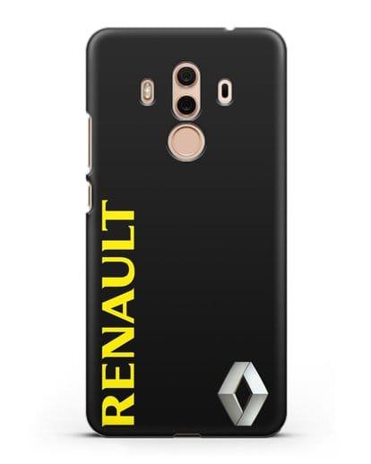 Чехол с надписью Renault и логотипом силикон черный для Huawei Mate 10 Pro