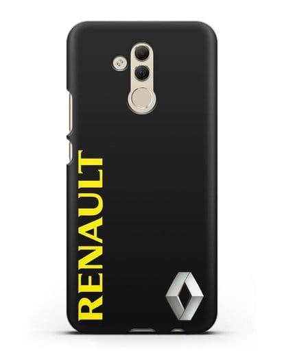Чехол с надписью Renault и логотипом силикон черный для Huawei Mate 20 Lite