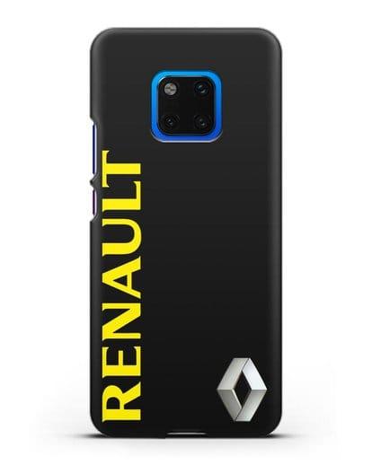 Чехол с надписью Renault и логотипом силикон черный для Huawei Mate 20 Pro