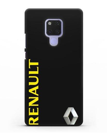 Чехол с надписью Renault и логотипом силикон черный для Huawei Mate 20X