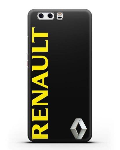 Чехол с надписью Renault и логотипом силикон черный для Huawei P10