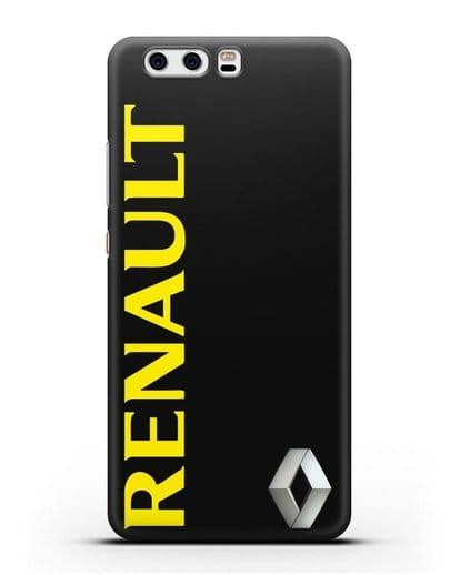 Чехол с надписью Renault и логотипом силикон черный для Huawei P10 Plus