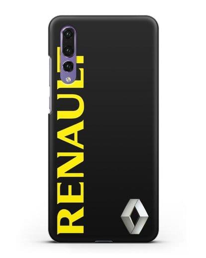 Чехол с надписью Renault и логотипом силикон черный для Huawei P20 Pro