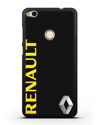 Чехол с надписью Renault и логотипом силикон черный для Huawei P8 Lite 2017