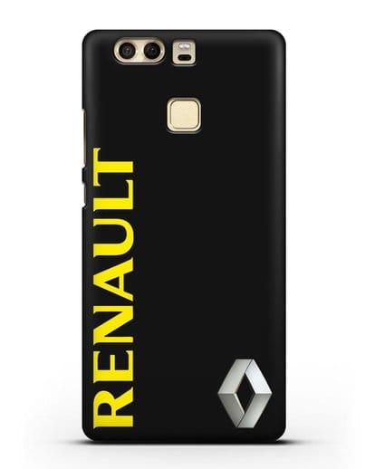 Чехол с надписью Renault и логотипом силикон черный для Huawei P9