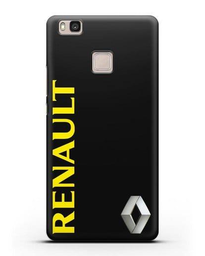 Чехол с надписью Renault и логотипом силикон черный для Huawei P9 Lite