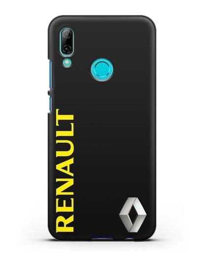 Чехол с надписью Renault и логотипом силикон черный для Huawei P Smart 2019